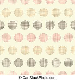 vindima, têxtil, pontos polka, seamless, padrão, fundo