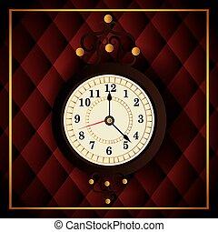 vindima, tempo, desenho, relógio