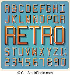 vindima, tipo, fonte, tipografia, retro