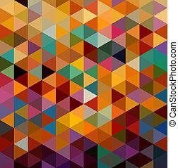 vindima, triângulos, seamless, padrão, experiência., eps10, file.