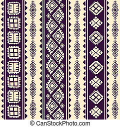 vindima, tribal, étnico, seamless, padrão