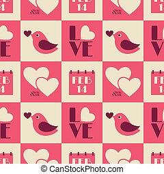 vindima, valentine, seamless, padrão