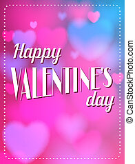 vindima, valentines, calligraphic, experiência., texto, tipo, dia