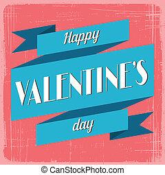 vindima, valentines, card., saudação, dia