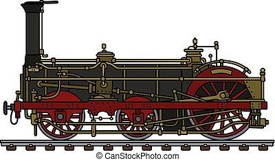 vindima, vapor, locomotiva