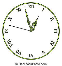 vindima, vetorial, antigas, relógio