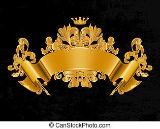 vindima, vetorial, emblema