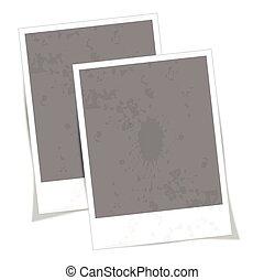 vindima, vetorial, foto, frame.