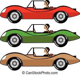 vindima, vetorial, roadster