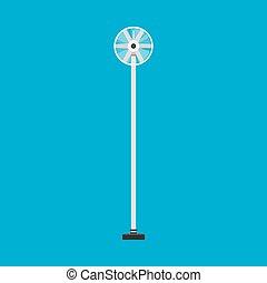vindmølle, turbine, industriel, generator, magt, agerjord, energi, økologiske, vektor, icon., propel, vind, alternativ, hvid, udskiftelig
