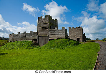 Vindolanda fort gatehouse - Gatehouse reconstruction at...