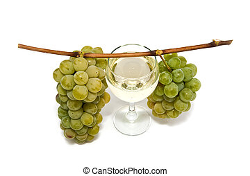 vine and glass of wine