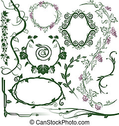 Vine Collection - Clip art collection of various vine ...