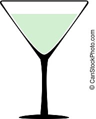 Vine-glass silhouette of goblets with wine or drinks isolated on white background. Alkohol martini vector illustration.