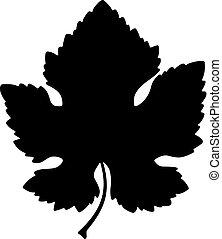 Vine leaf with a cutting