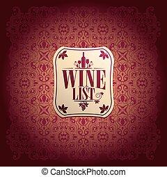 Vine List Design baroque vector