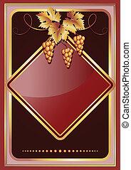 Vine ornament - Background with golden vine ornament