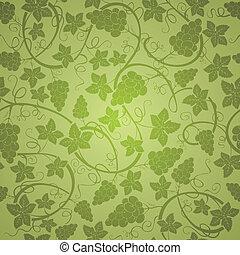 Vine seamless background, vector illustration