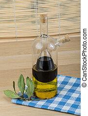 Vinegar and olive oil