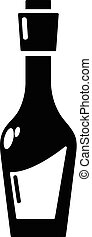 Vinegar bottle icon, simple style - Vinegar bottle icon....