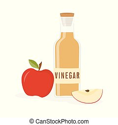 vinegar bottle isolated