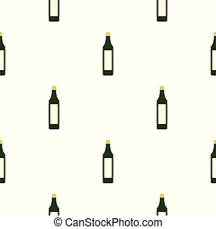 Vinegar bottle pattern seamless for any design vector...