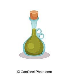 Vinegar bottle vector Illustration on a white background