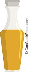 Vinegar icon, flat style - Vinegar icon. Flat illustration...