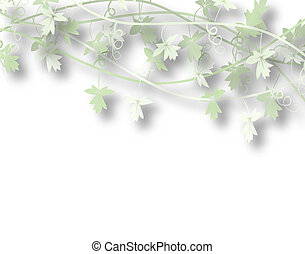Vines - Illustration of a generic vine bush with copy space