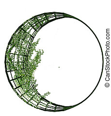 Vines on A Metal Crescent Structure - Vines on a metal...