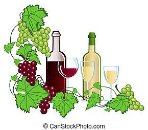 Vineyard - Clip-arts of wine and grapes