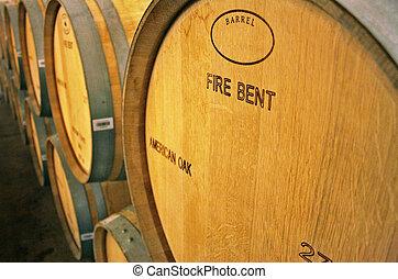 Vineyard in Chile - Wine barrels in Santiago of Chile