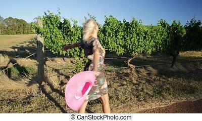 Vineyard tourism West Australia - Beautiful blonde carefree...