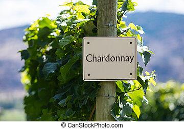 vineyard wine grape variety sign
