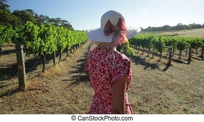 Vineyard woman Farmer - Australian woman farmer portrait,...