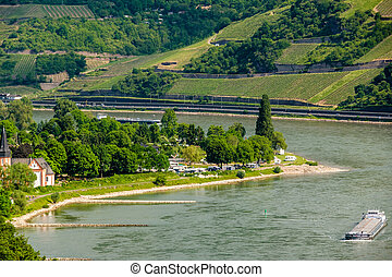 Vineyards at Rhine Valley in Germany - Vineyards at Rhine...