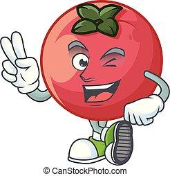 vinger, appel, fluweel, zelden, karakter, twee, mascotte