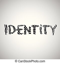 vingerafdruk, vector, illustratie, 'identity'