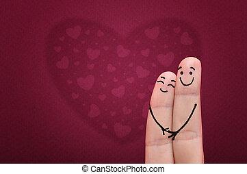 vingers, in, love.