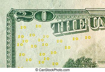 vingt, note, dollar