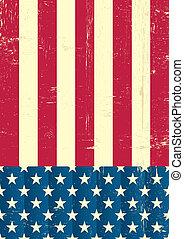 vinhøst, amerikaner flag