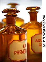 vinhøst, medicin, flasker