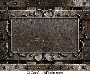 metalplade til dør