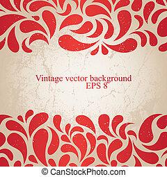 vinhøst, rød baggrund