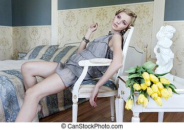 vinhøst, rum, blonde, skønhed