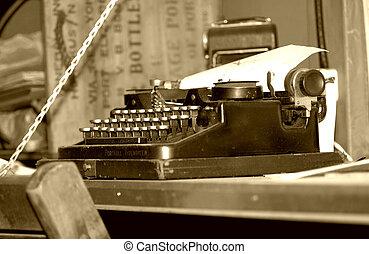 vinhøst, skrivemaskine