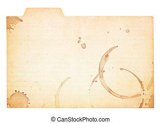 vinhøst, tabbed, indeks card, hos, kaffe, klatre