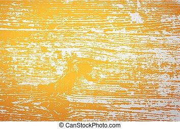 vinhøst, træagtig tekstur, hos, gul, toning, filter, indvirkning, vektor, baggrund