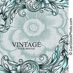 vinhøst, vektor, pattern., hånd, stram, abstrakt, baggrund.,...