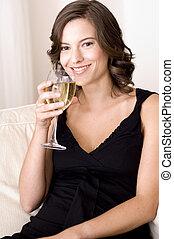 vinho bebendo